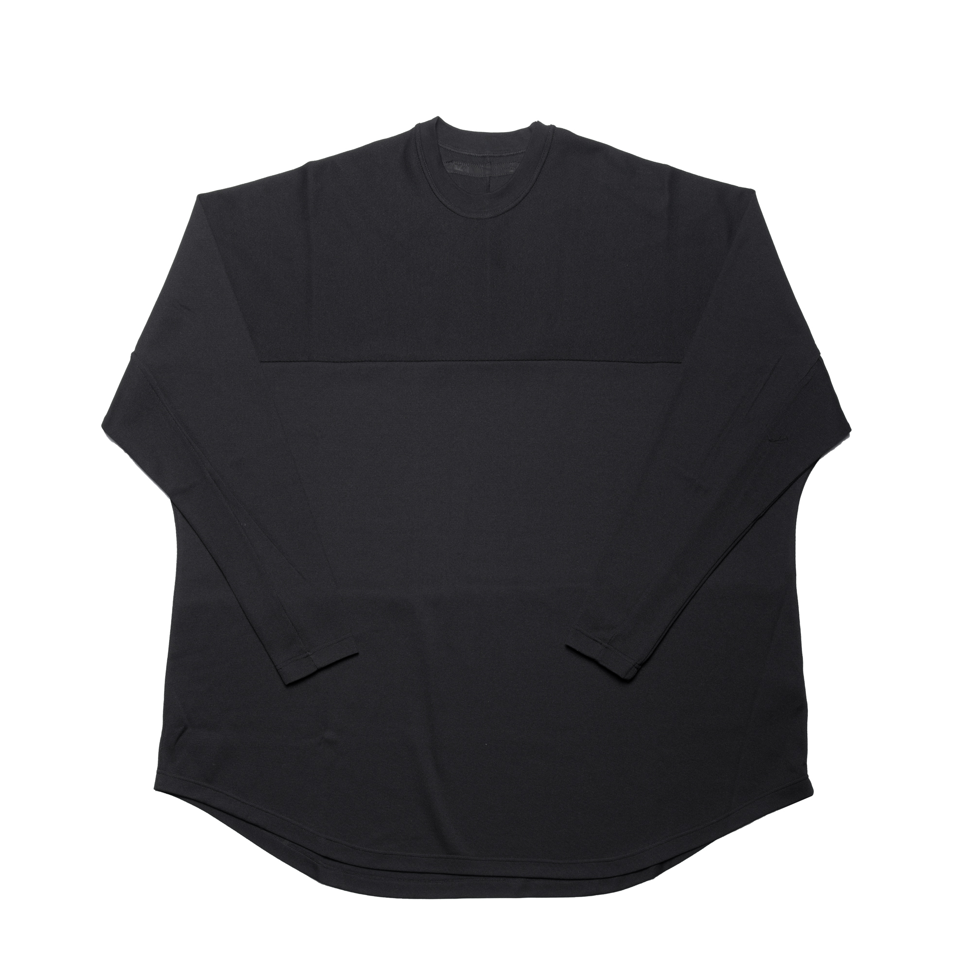 660CUM2-BLACK / ラインスリーブ エクストラビック ラウンドTシャツ