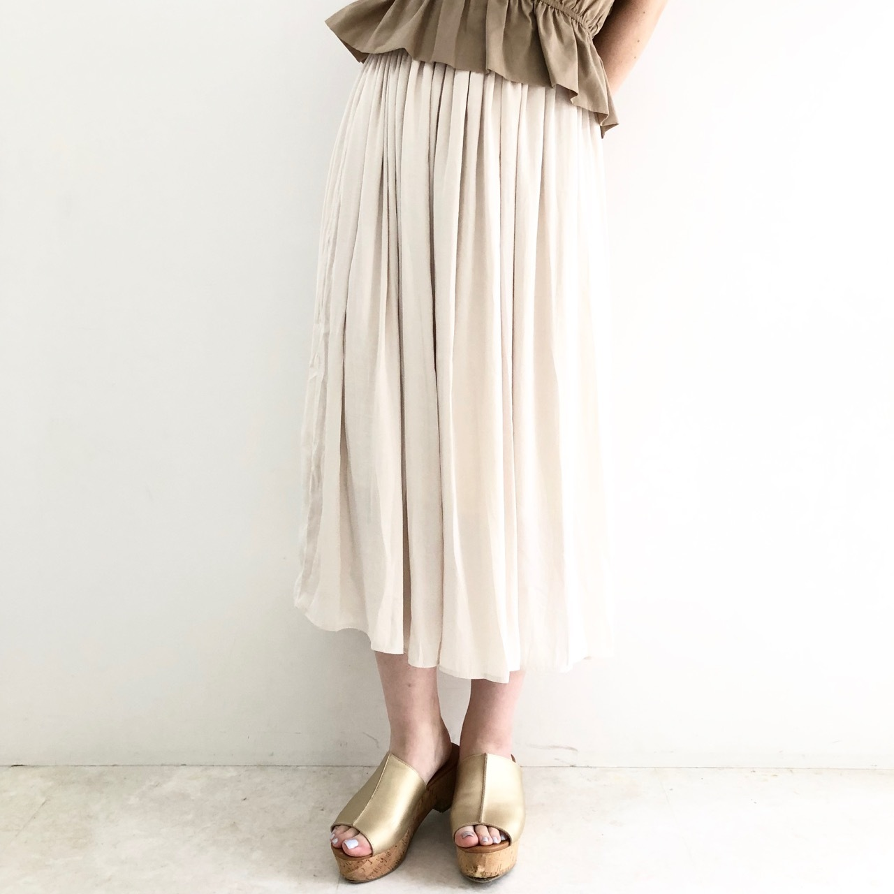 【 Valance Select 】ヴィンテージサテンスカート