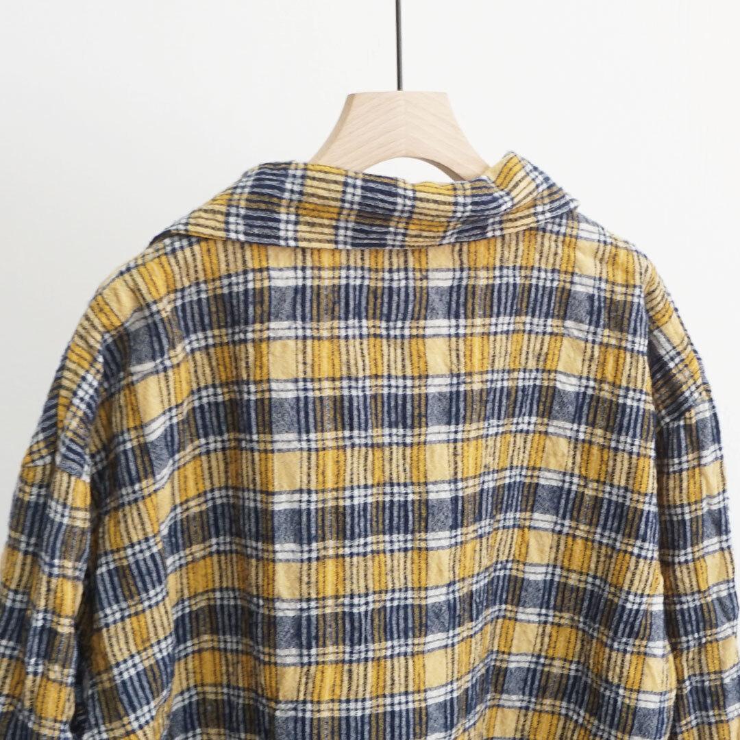 【再入荷なし】 ICHIAntiquites イチアンティークス ウールガーゼチェックジャケット (品番500608)