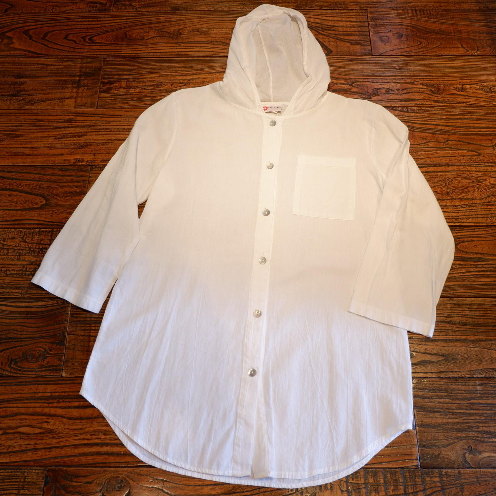 アメリカ古着 ホワイトコットン ライトジャケット