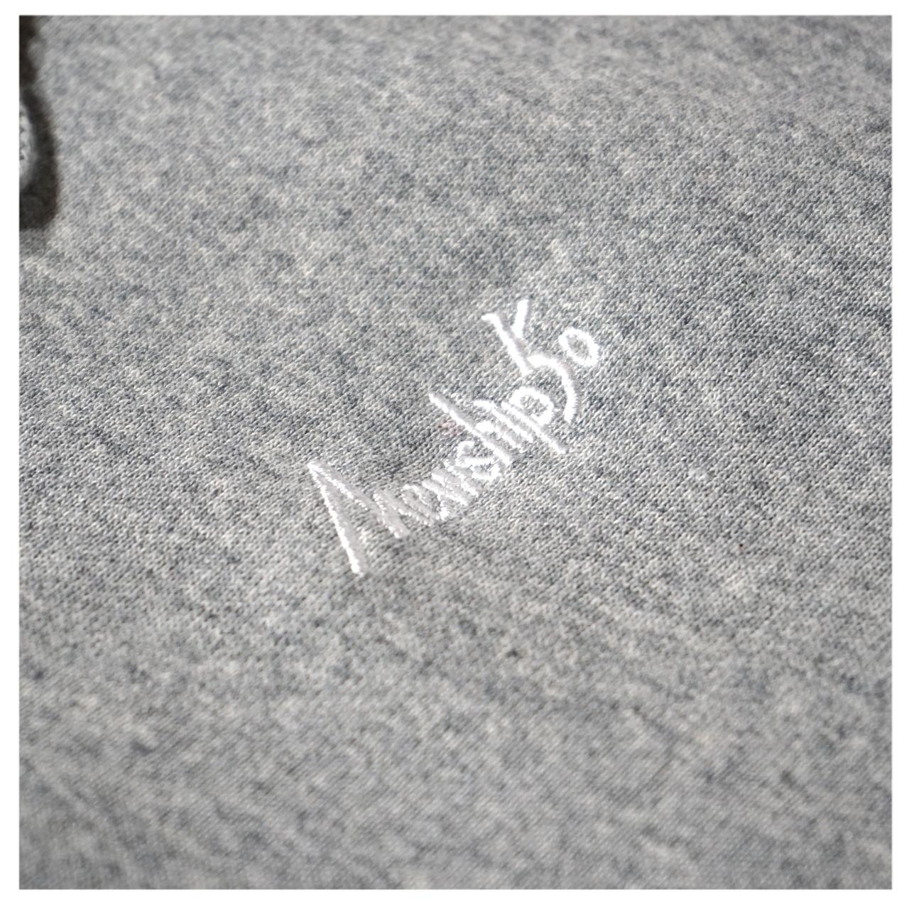 BASIC LOGO 019 pullover <Gray×White> - 画像2