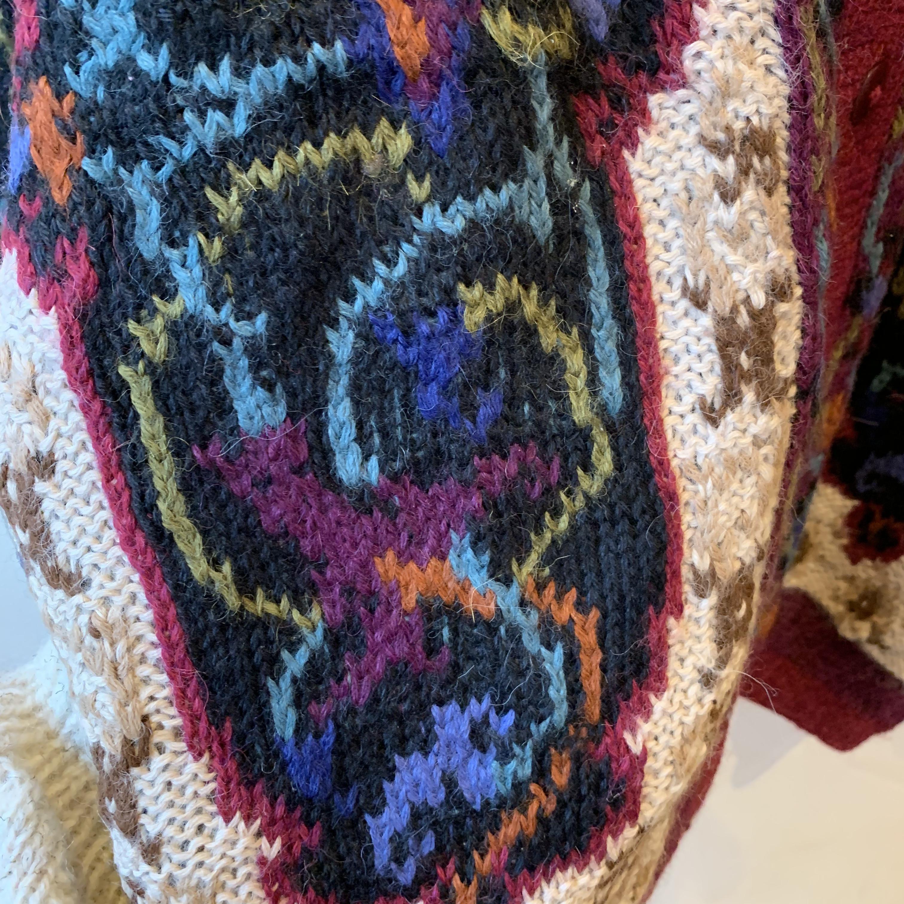 vintage alpaca design knit cardigan