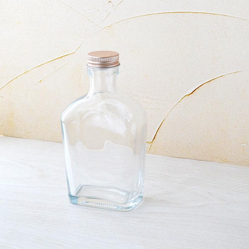 ハーバリウム用 200ml ポケットボトル型ビン