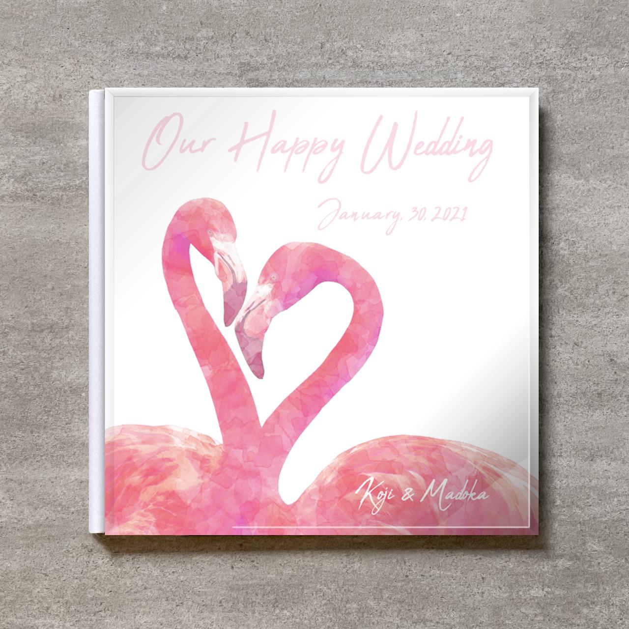 White Flamingo_A4スクエア_20ページ/30カット_スリムフラット(アクリルカバー)