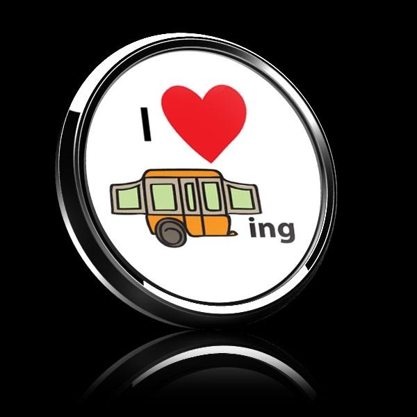 ドームバッジ(CD1007 - I LOVE CAMPING 02) - 画像4