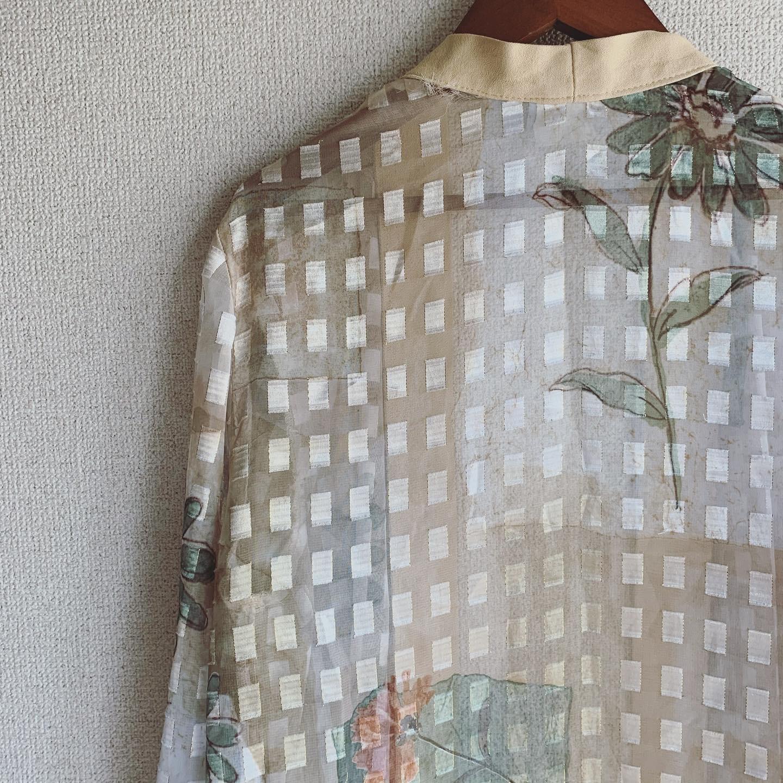 vintage see-through haori