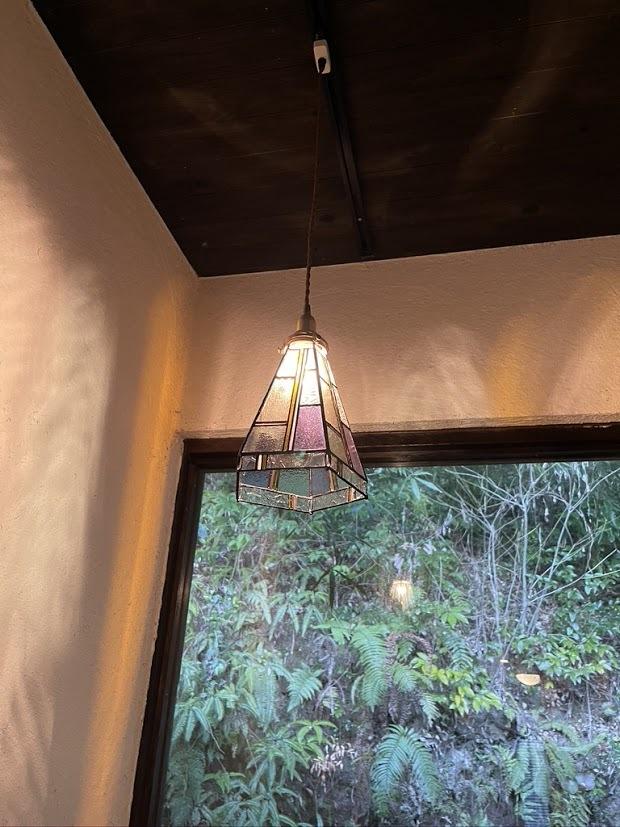 モンドリアン パステル(ステンドグラスの吊りランプ)(ペンダントライト) 01010061