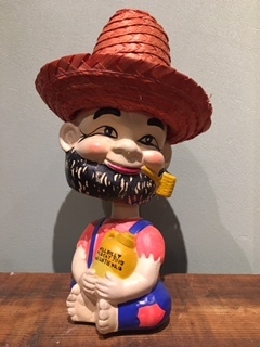 NODDER HILLBILLY BANK BOBBLE HEAD 1960's