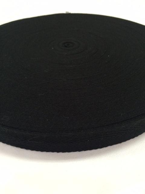 アクリル 杉綾織(綾テープ) 黒  1mm厚 20mm幅 1巻(50m