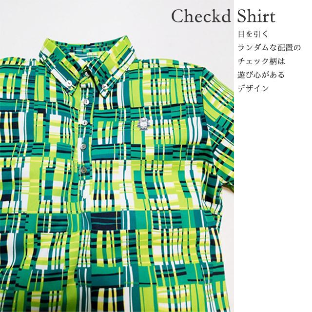 チェック半袖シャツ 2CYオリジナルブランド [017002]