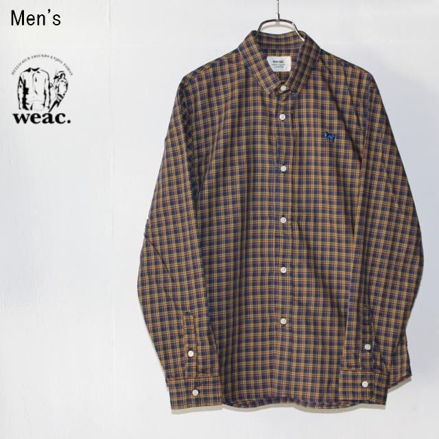 weac. チェックシャツ PUGCHAN  (YELLOW×NAVY)