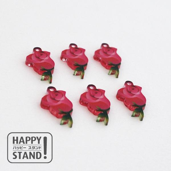 《薔薇 ピンク》アクリルチャーム