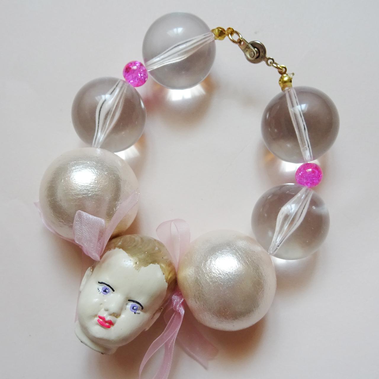 Sedmikrasky セドミックラスキー ドールヘッドブレスレット / ピンク