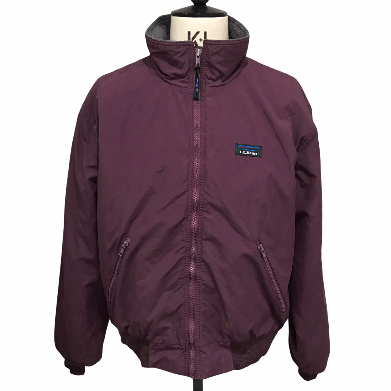 13 90's L.L.Bean Warm-up jacket made in USA Burgundy
