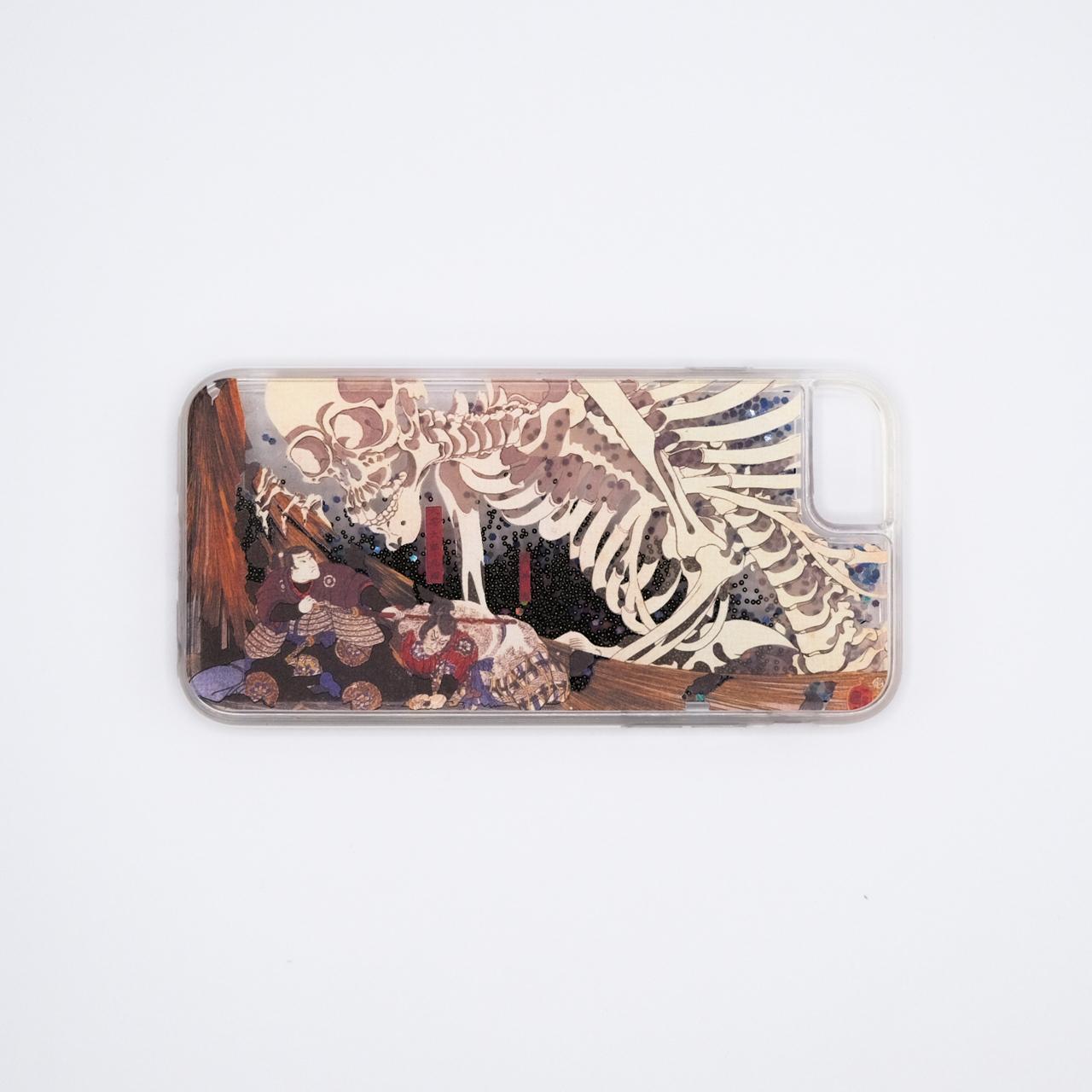 歌川国芳 iPhoneグリッターケース(SE第2世代/6/6s/7/8用)相馬の古内裏