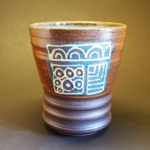 やちむん 陶芸工房かみや 神谷理加子 いっちん描きフリーカップ