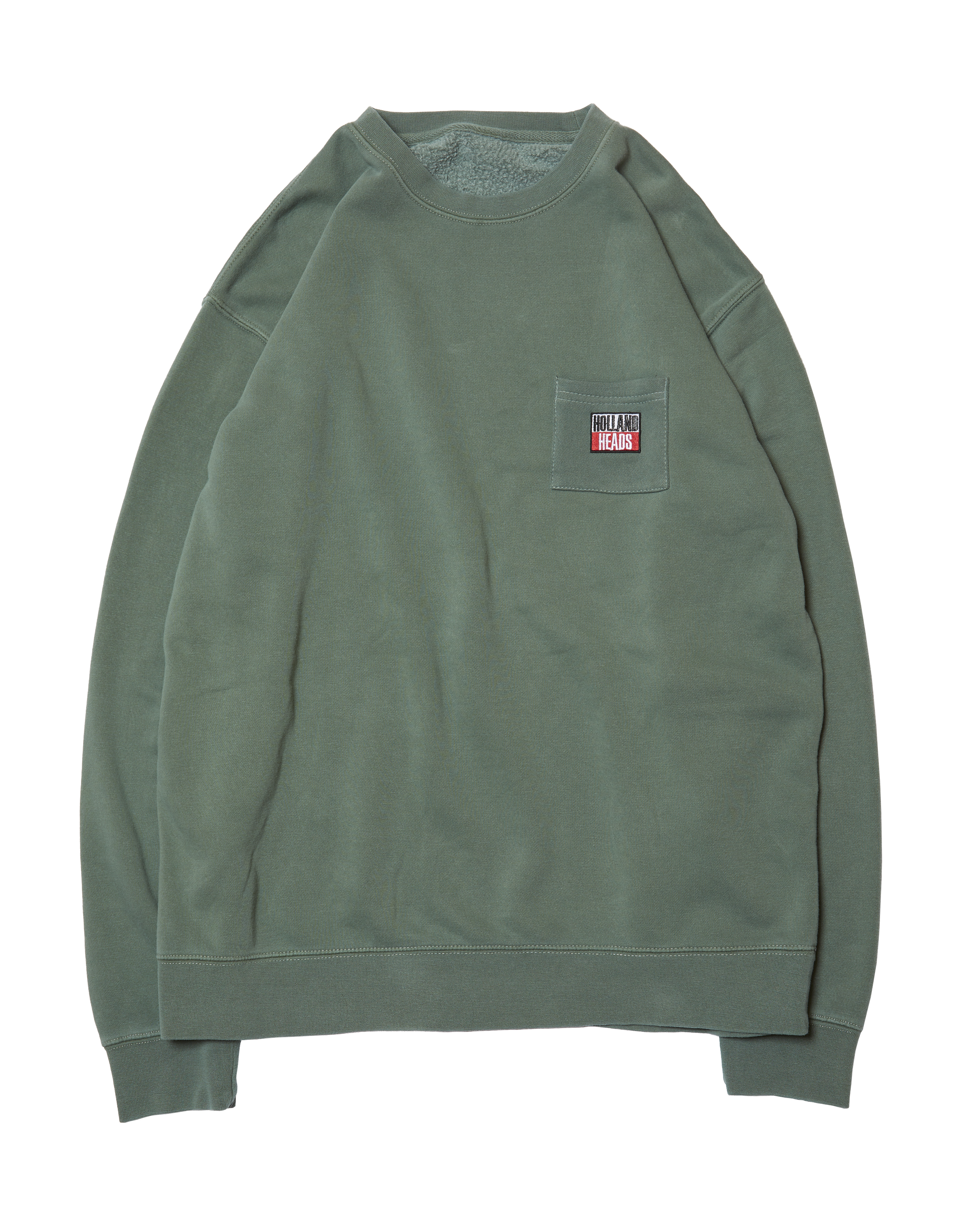 【HOLE AND HOLLAND】HOLLAND HEAD CREW(PIGMENT GREEN)