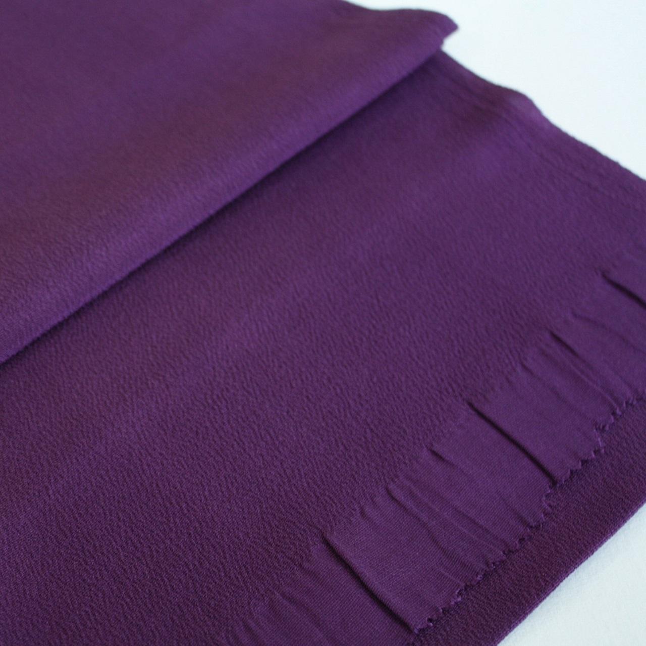【ちりめん帯揚げ】紫色
