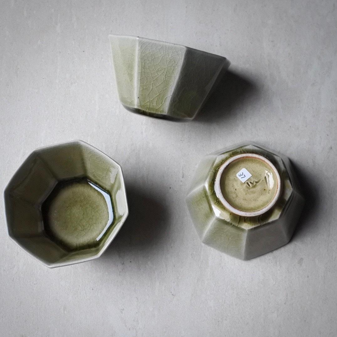 宮田 竜司/面取蕎麦猪口(オクトゴナル) 灰釉