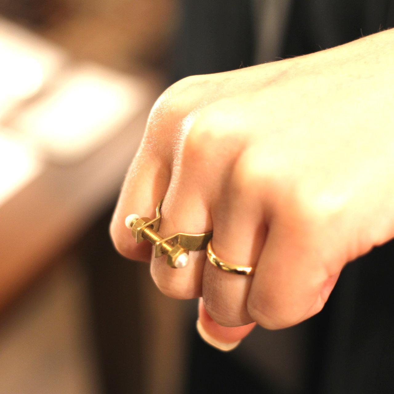 Franken ring フランケン ボルト ナット リング 指輪 【Aquvii アクビ】