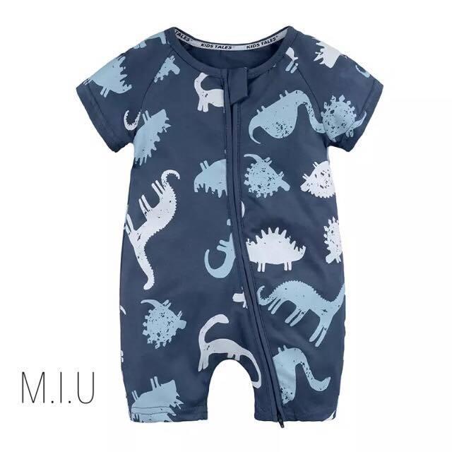 恐竜柄ロンパース #MIU508