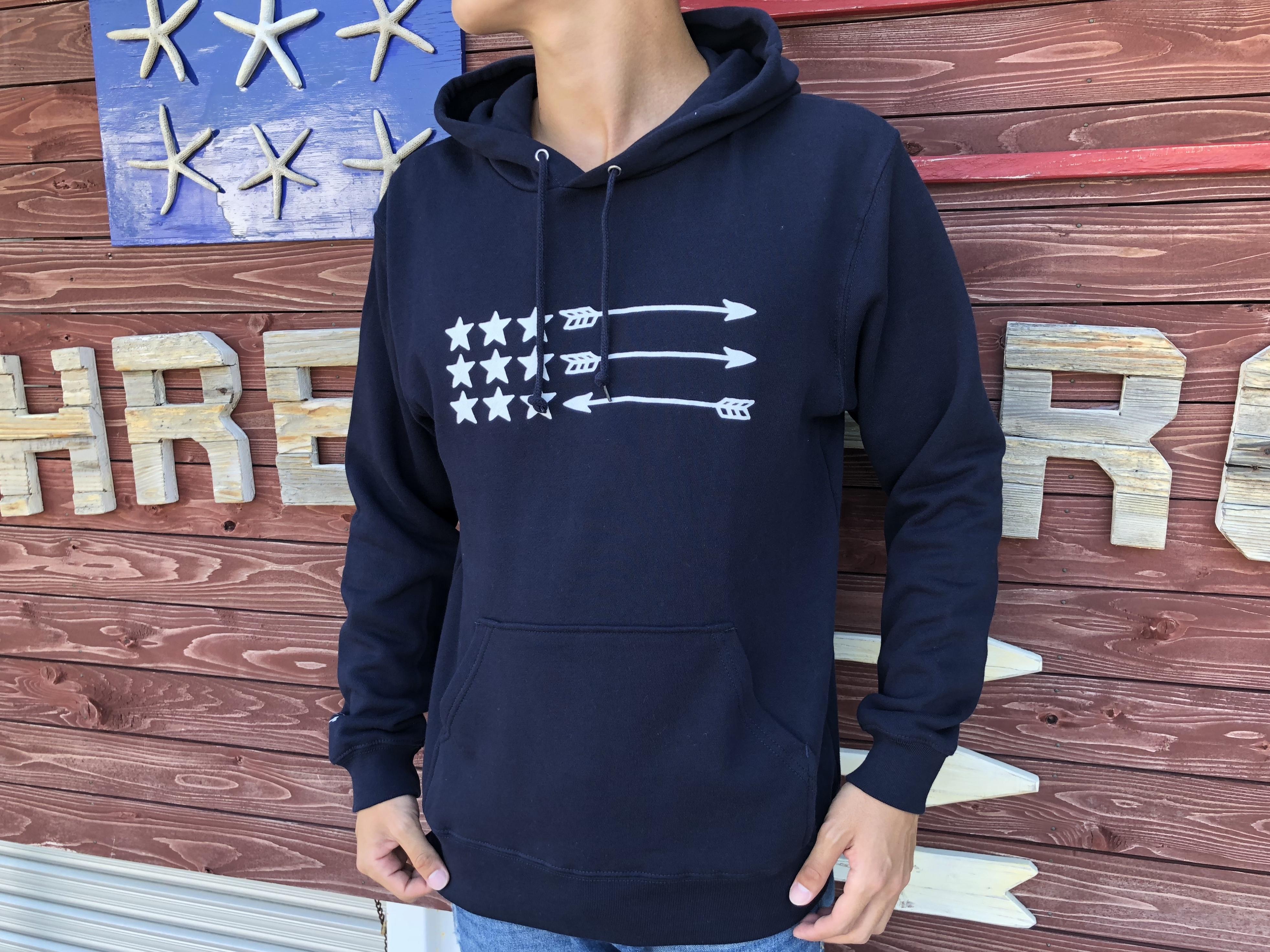 USA ArrowFlag パーカー(navy)