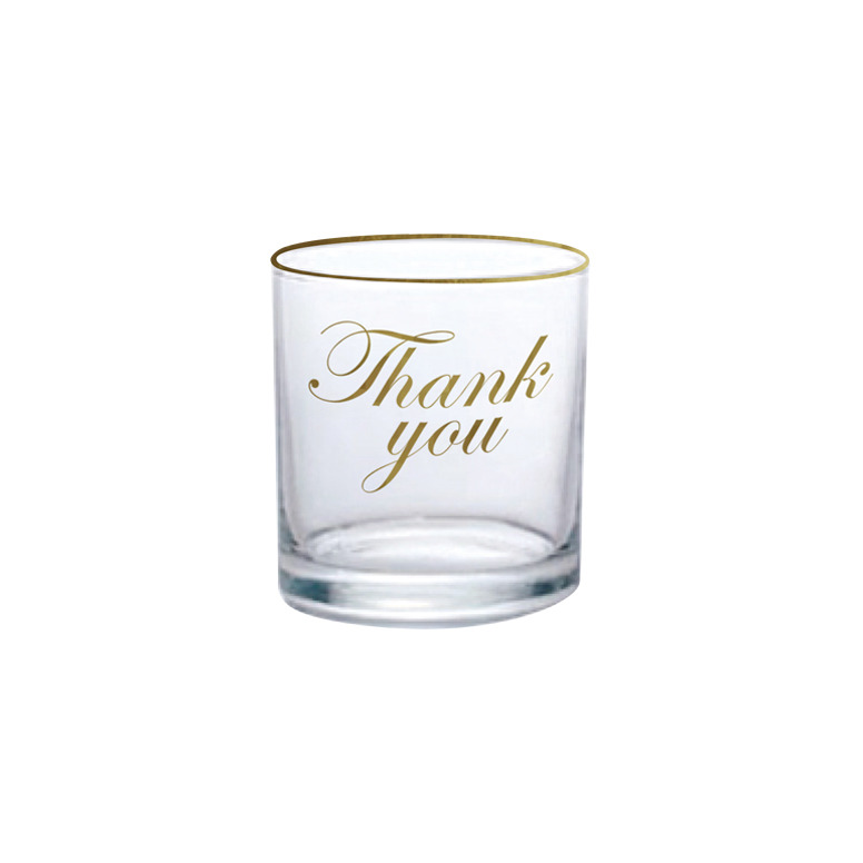 Classic Thank you Glass