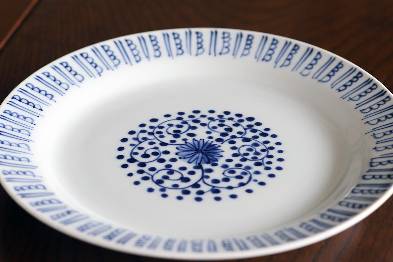 古代唐草 6寸皿 作:井手國博・与志郎窯(有田焼)