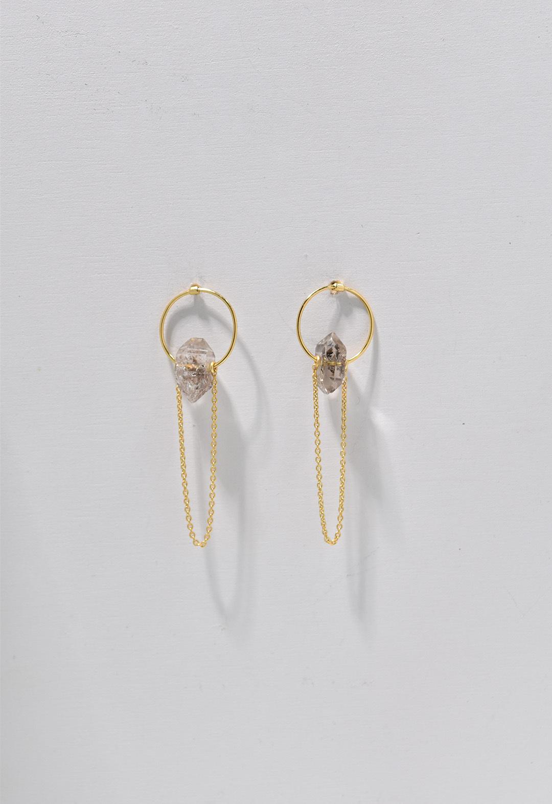 notice stone pierce-herkimer diamond Gold