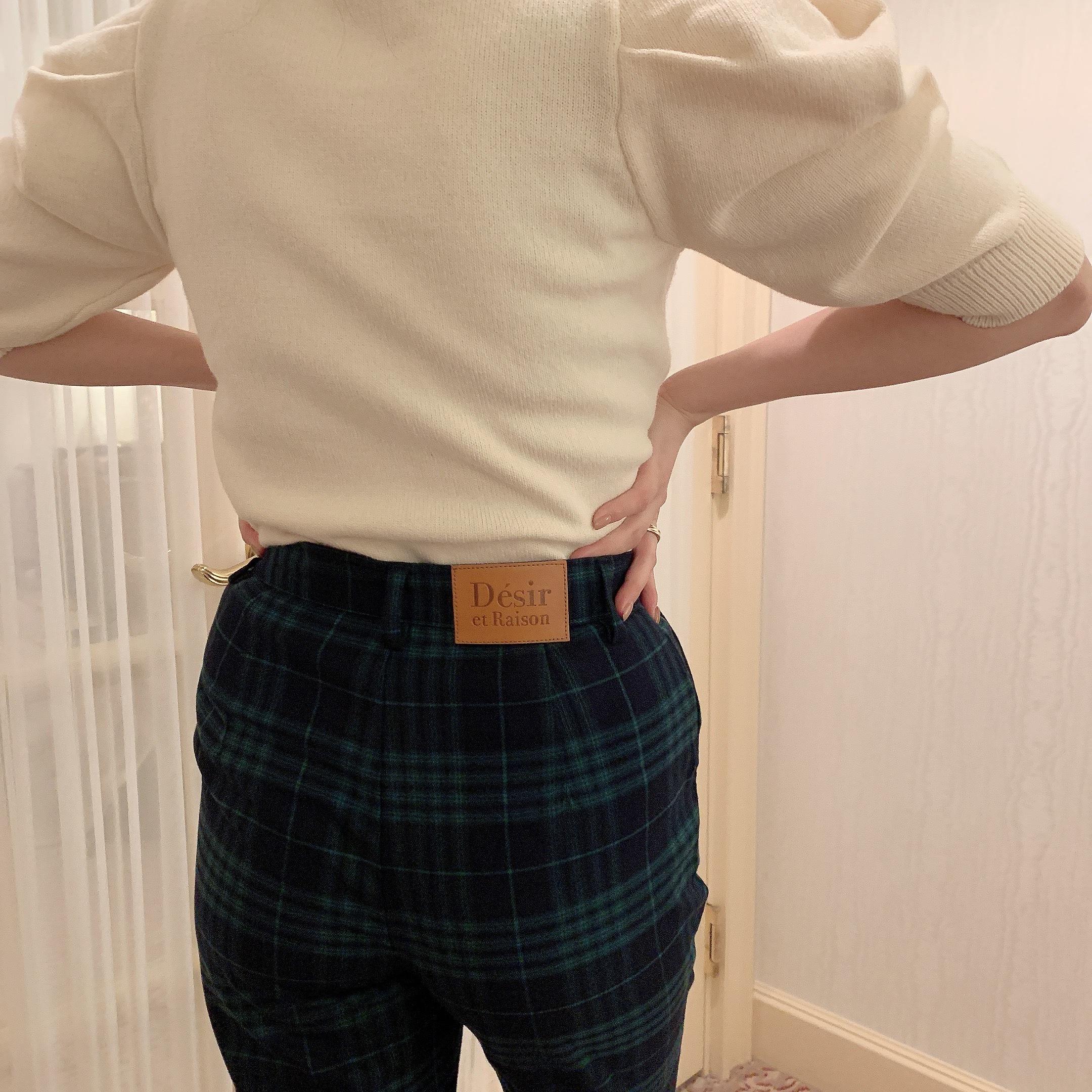 【Désir original】London check pants