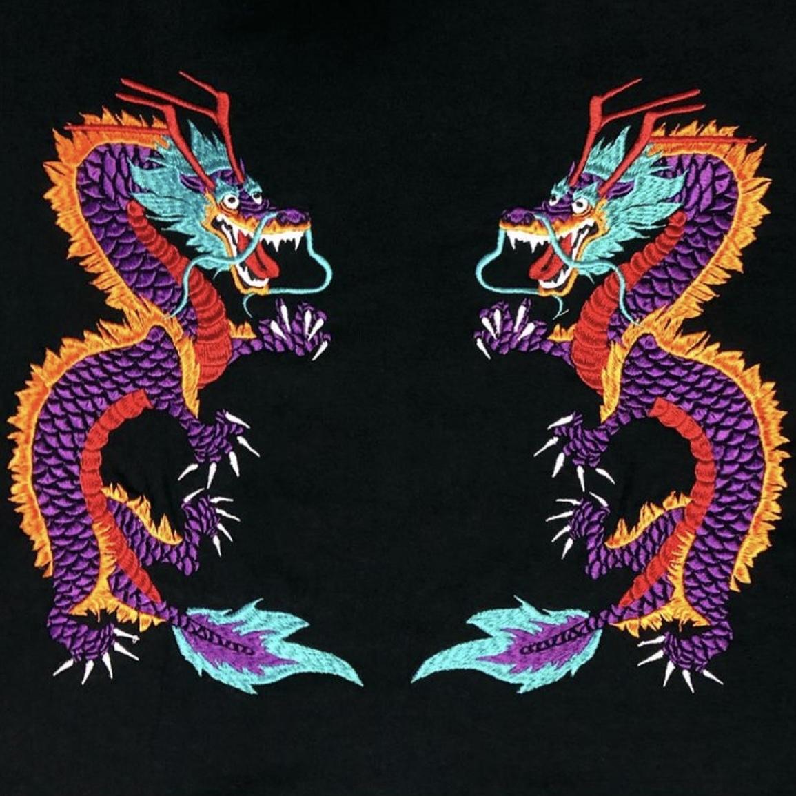 刺繍パーカー(ドラゴン/黒)