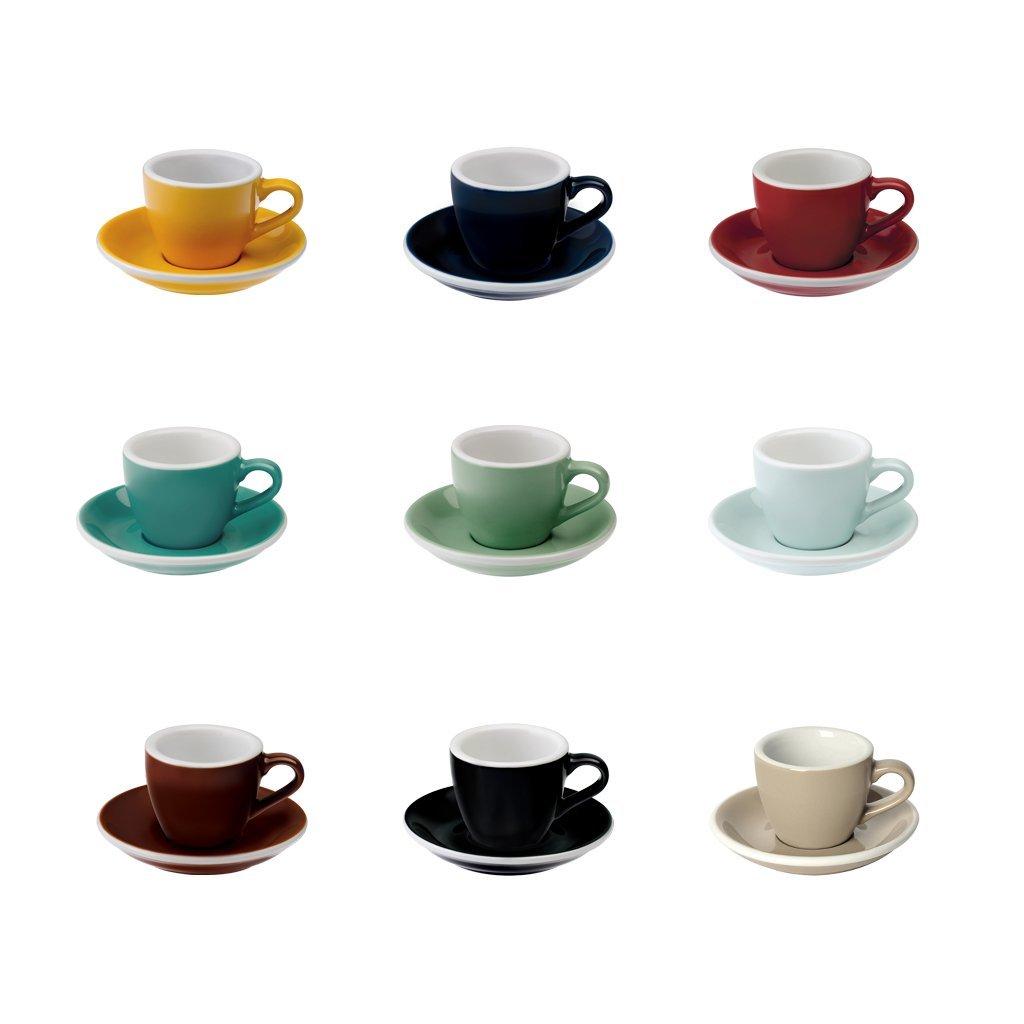 【業務用・6客セット】Loveramics(ラブラミックス) 80ml espresso cup egg カップ&ソーサ―付き
