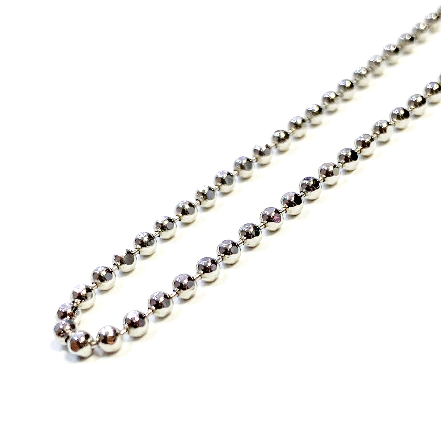 SPARKING Cutting Ball Chain Necklace SILVER