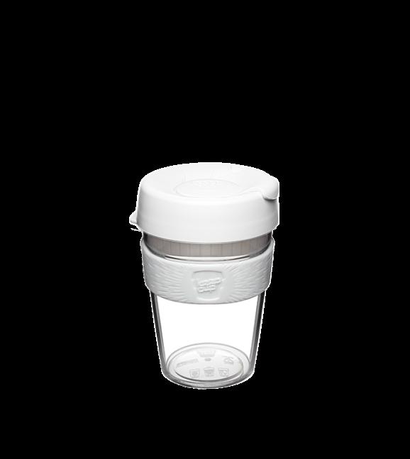 KeepCup Original Clear - White - Medium 12oz / 340ml