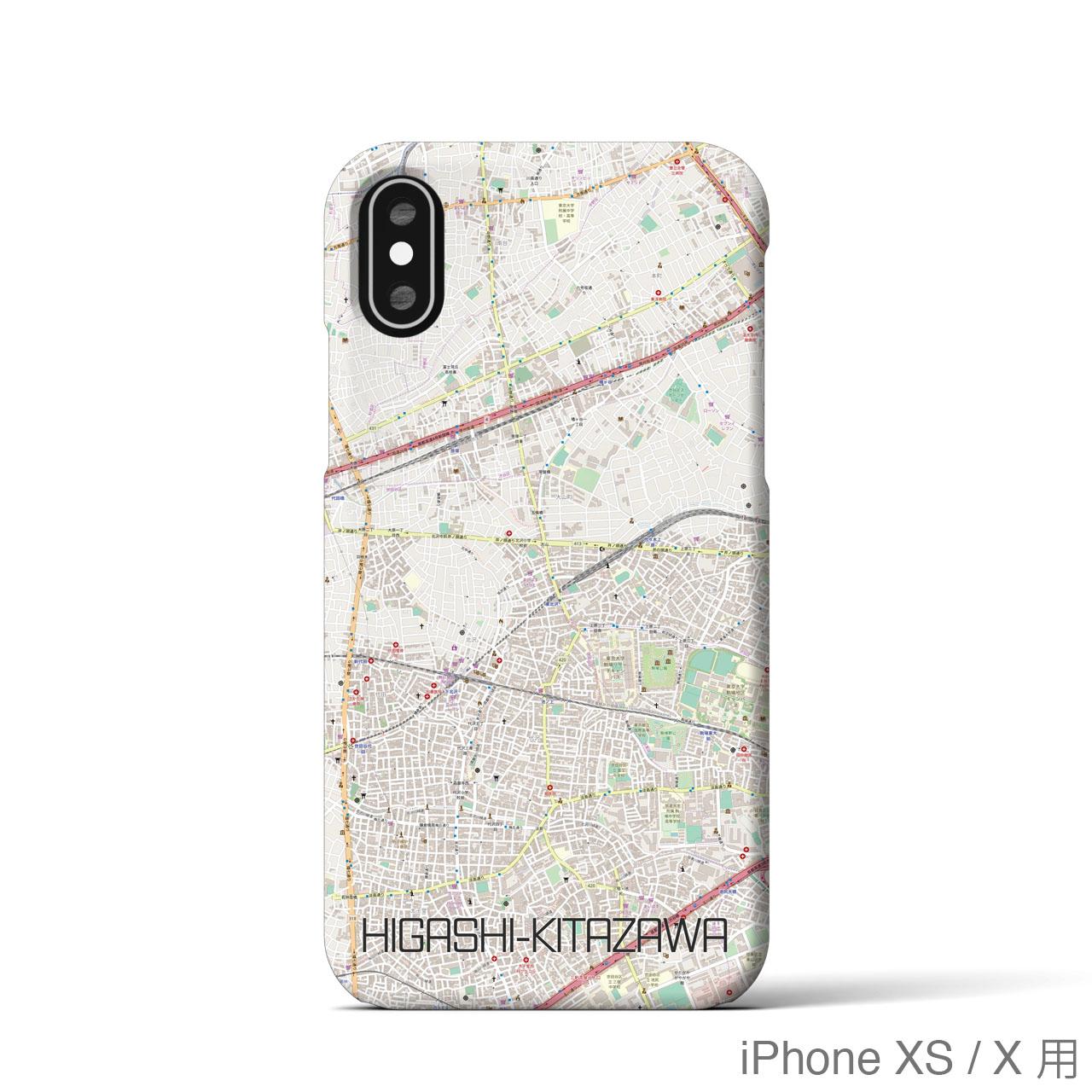 【東北沢】地図柄iPhoneケース(バックカバータイプ・ナチュラル)
