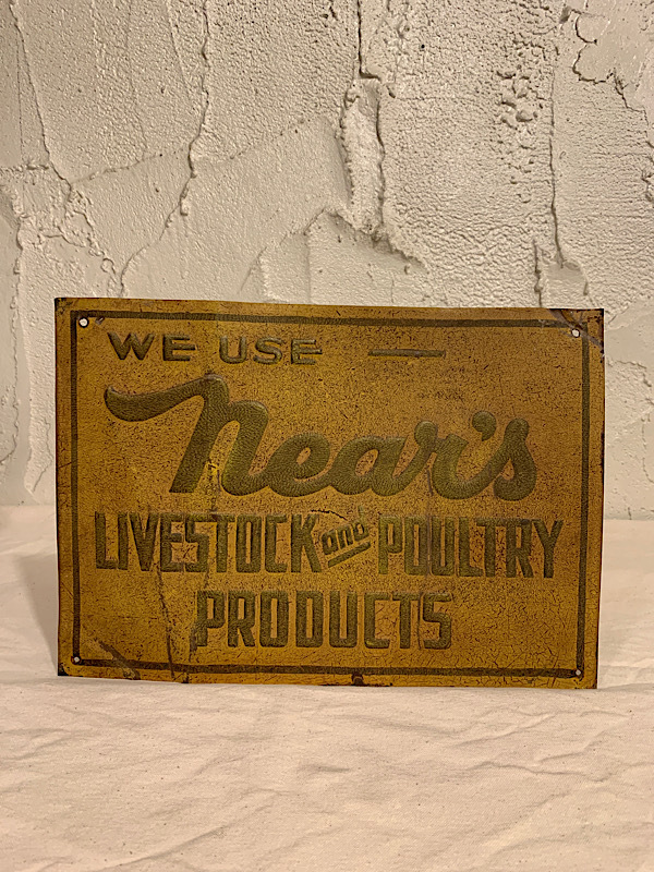 """COMPANY PLATE """" NEAR'S LIVESTOCK POULTRY PRODUCTS """""""