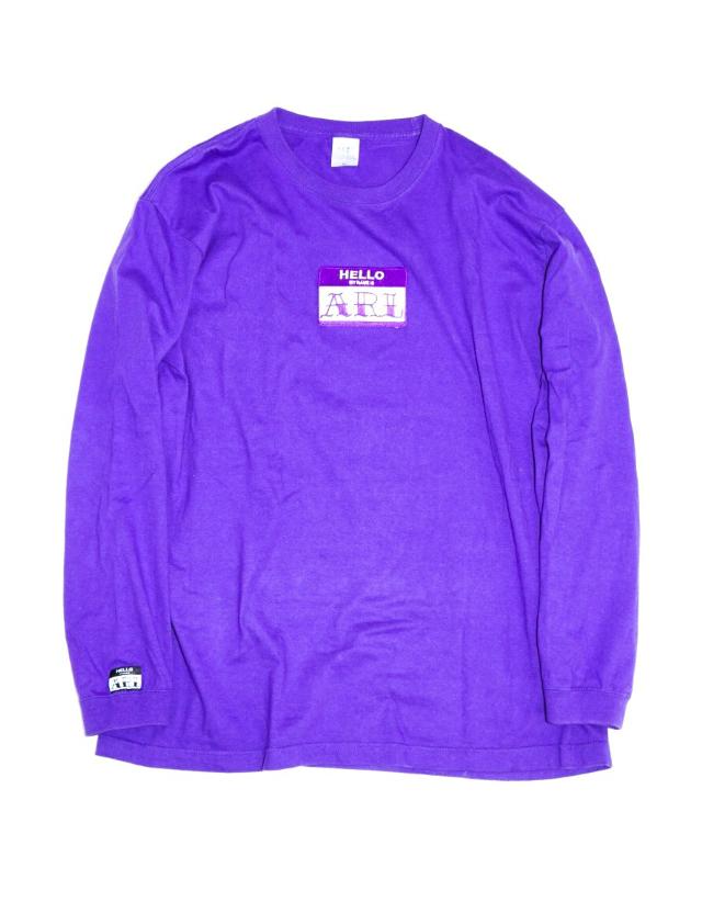 LOGO PATCH L/S TEE purple