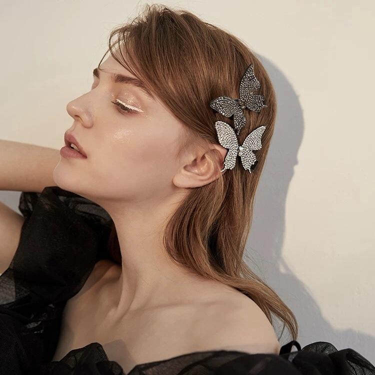 butterfly glitter hair pin