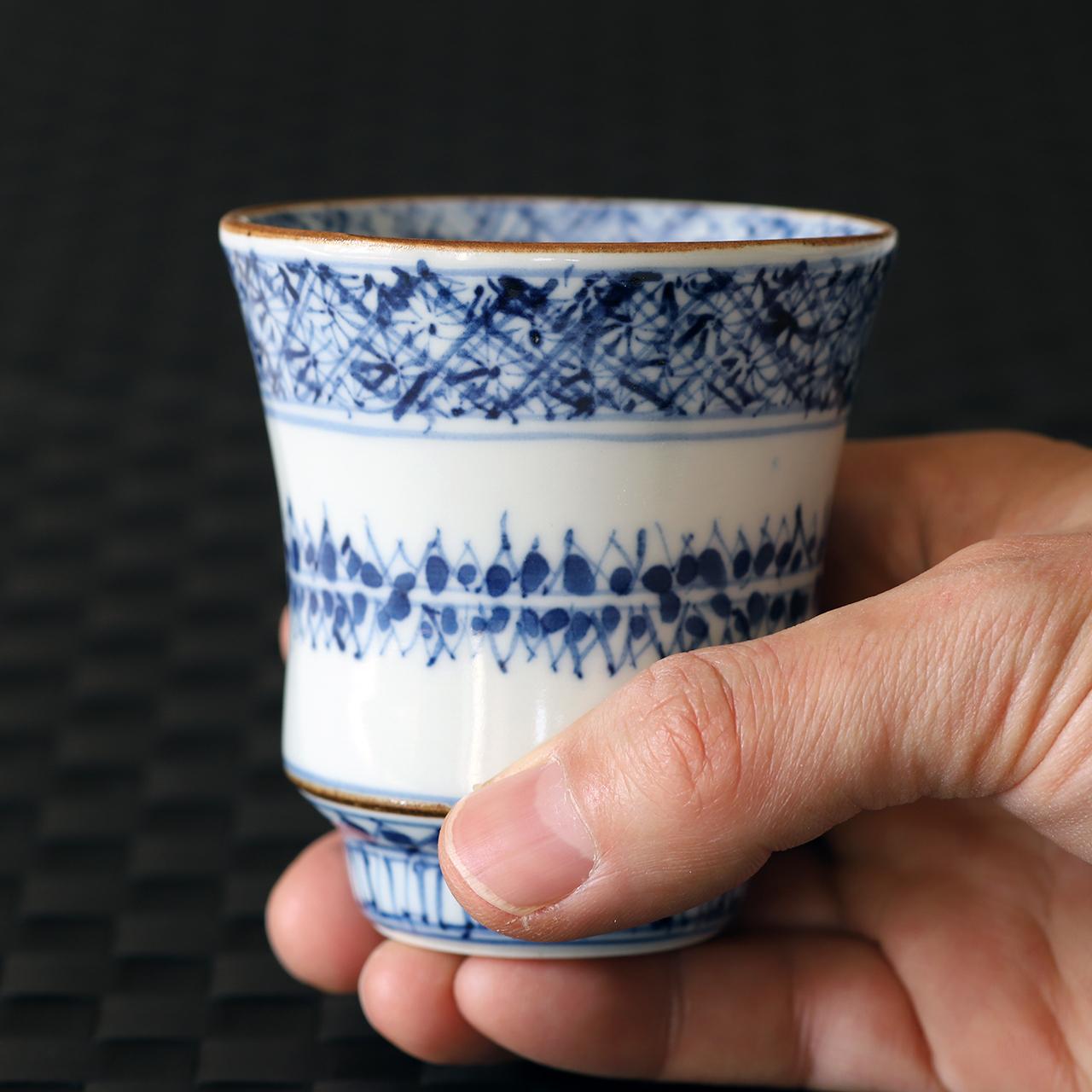 松尾貞一郎 祥瑞 湯呑 210204-K21 貞土窯(有田焼)