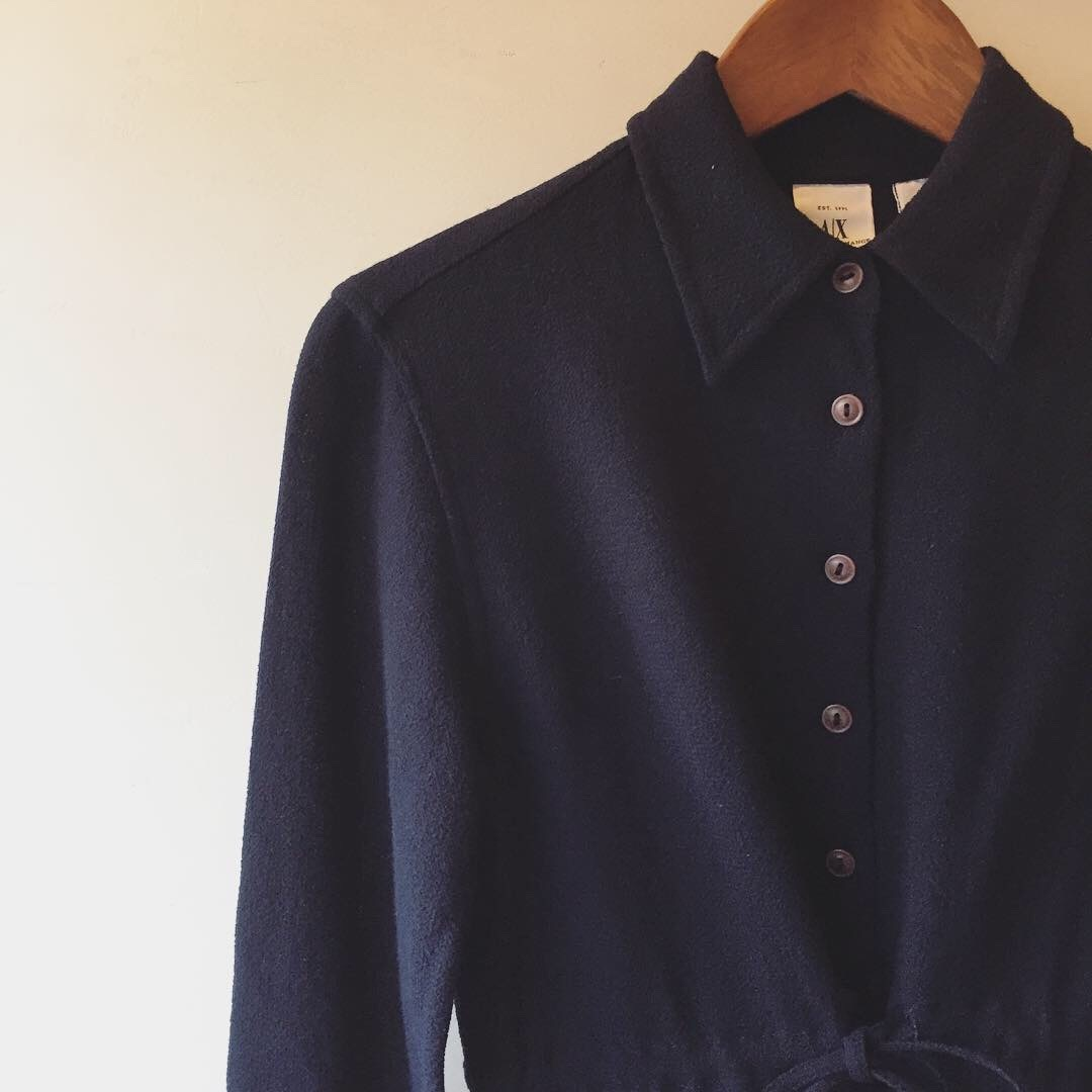 vintage armani exchange summer wool tops