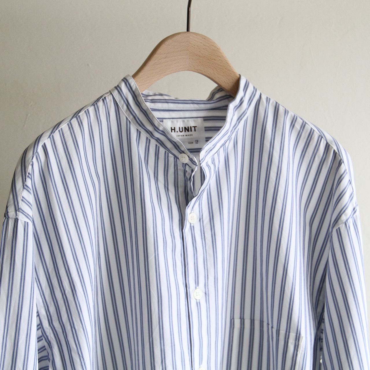 H.UNIT【 mens 】typewriter stripe shirts