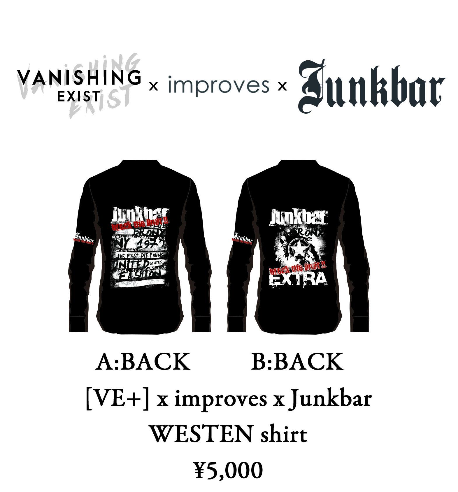 [VE+] x improves x Junkbar ウエスタンシャツ
