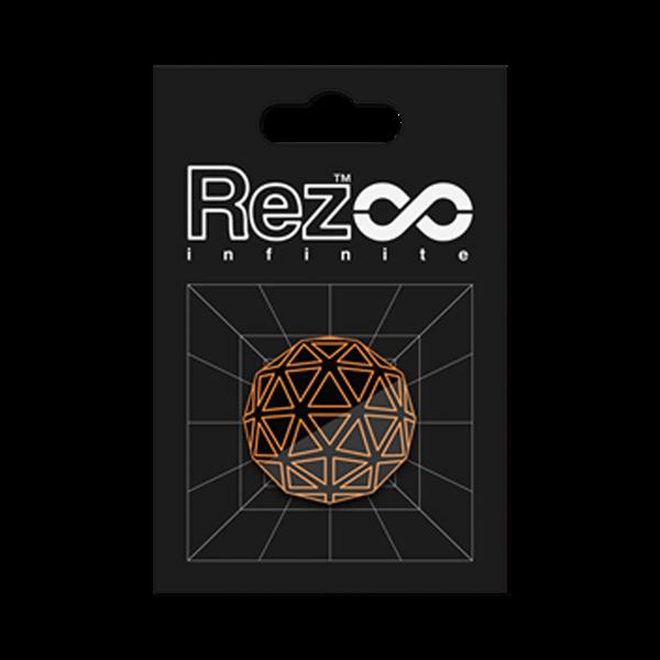 REZ INFINITE PLAYER FORM 00ピンバッジ  / iam8bit