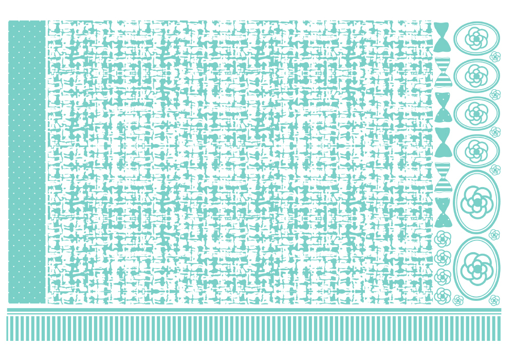 ツイード転写紙 A3サイズ ロビンズエッグブルー(ポーセリンアート用転写紙)