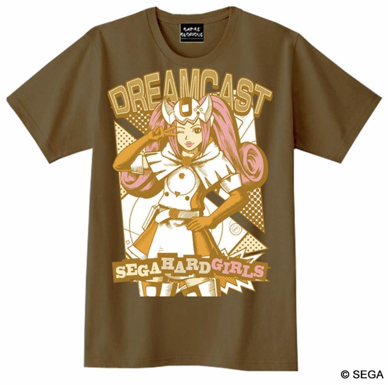 【限定30着】セガ・ハード・ガールズ x ドリームキャスト Tシャツ -ブラウン- / GAMES GLORIOUS