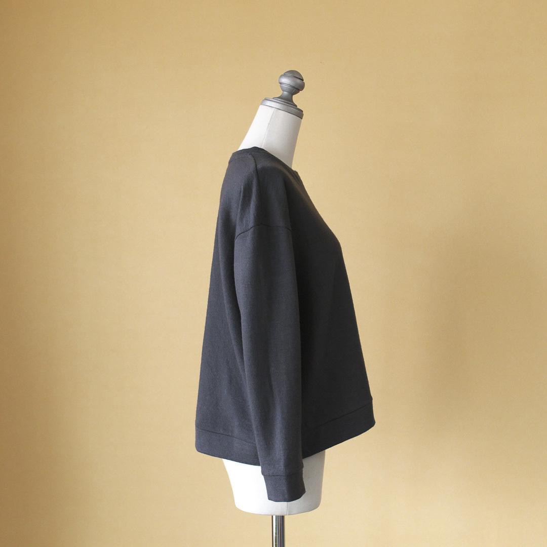 evam eva エヴァムエヴァ wool angora sweat pullover ウールアンゴラスウェットプルオーバー・グレイ