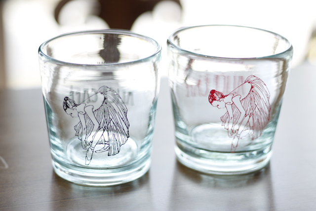 アリスカフェオリジナルグラス イラスト&ロゴ