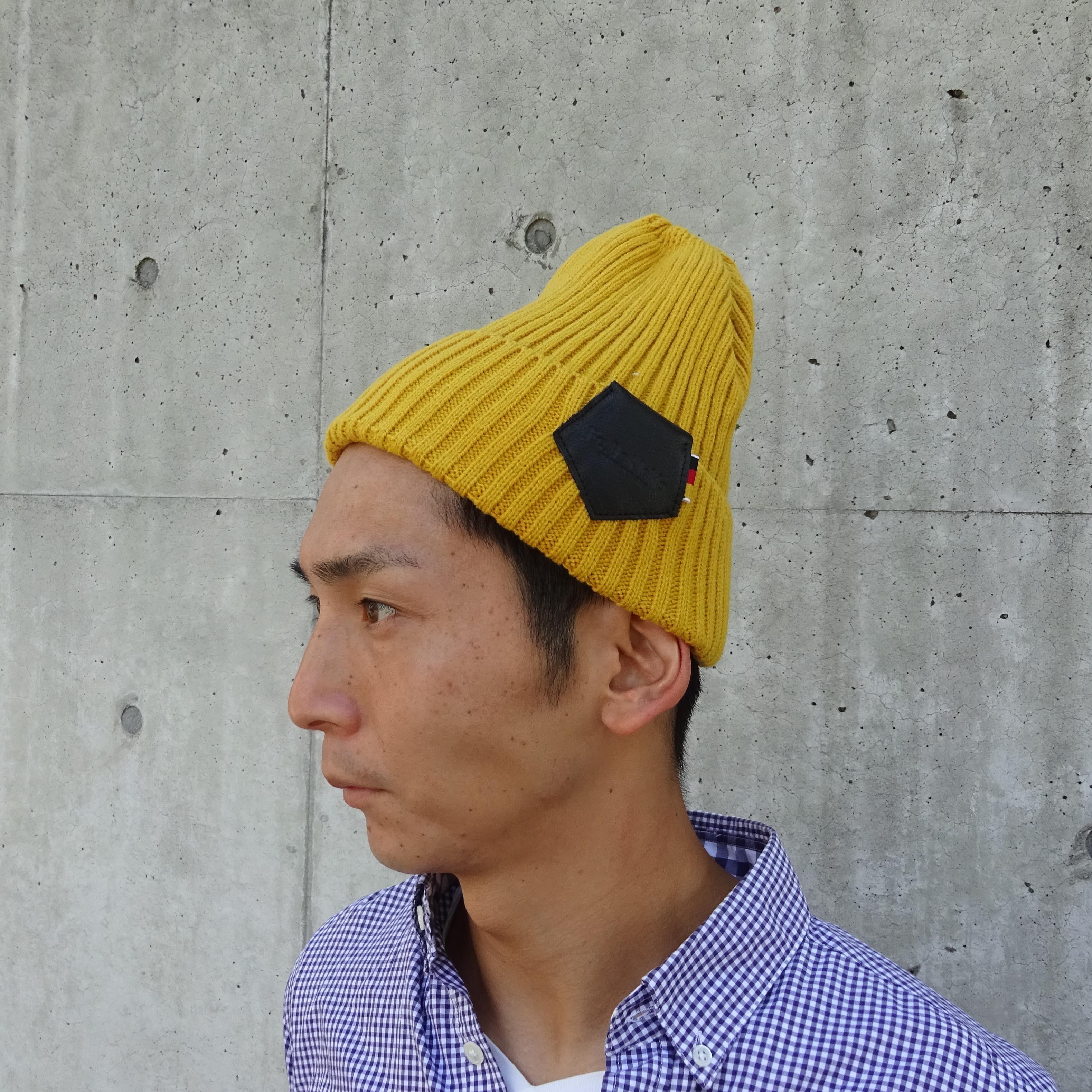 【UNISEX】Knit Cap (MASTARD)