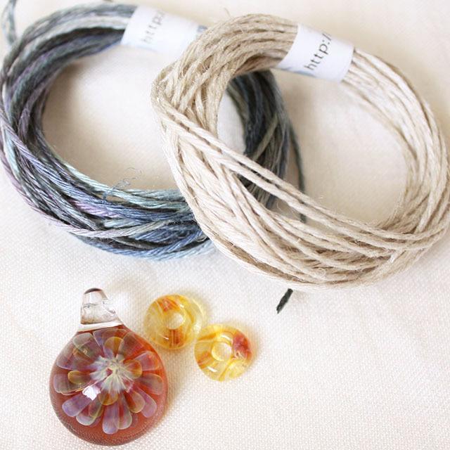 【お得なセット】パイレックスガラスペンダントのネックレスが作れるセット Marron Fana mini(ネコポス発送可能)