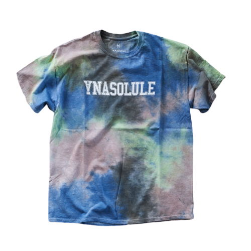 ANASOLULE/College Logo Tie Dye Tee【 Col. Planet 】